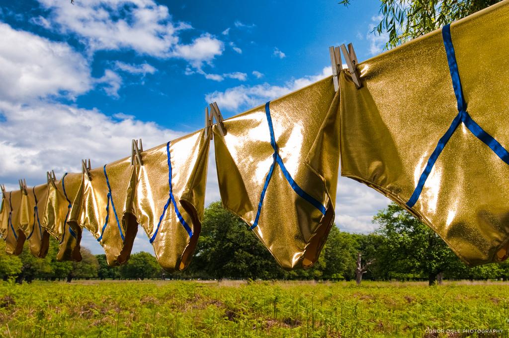 gold underpants
