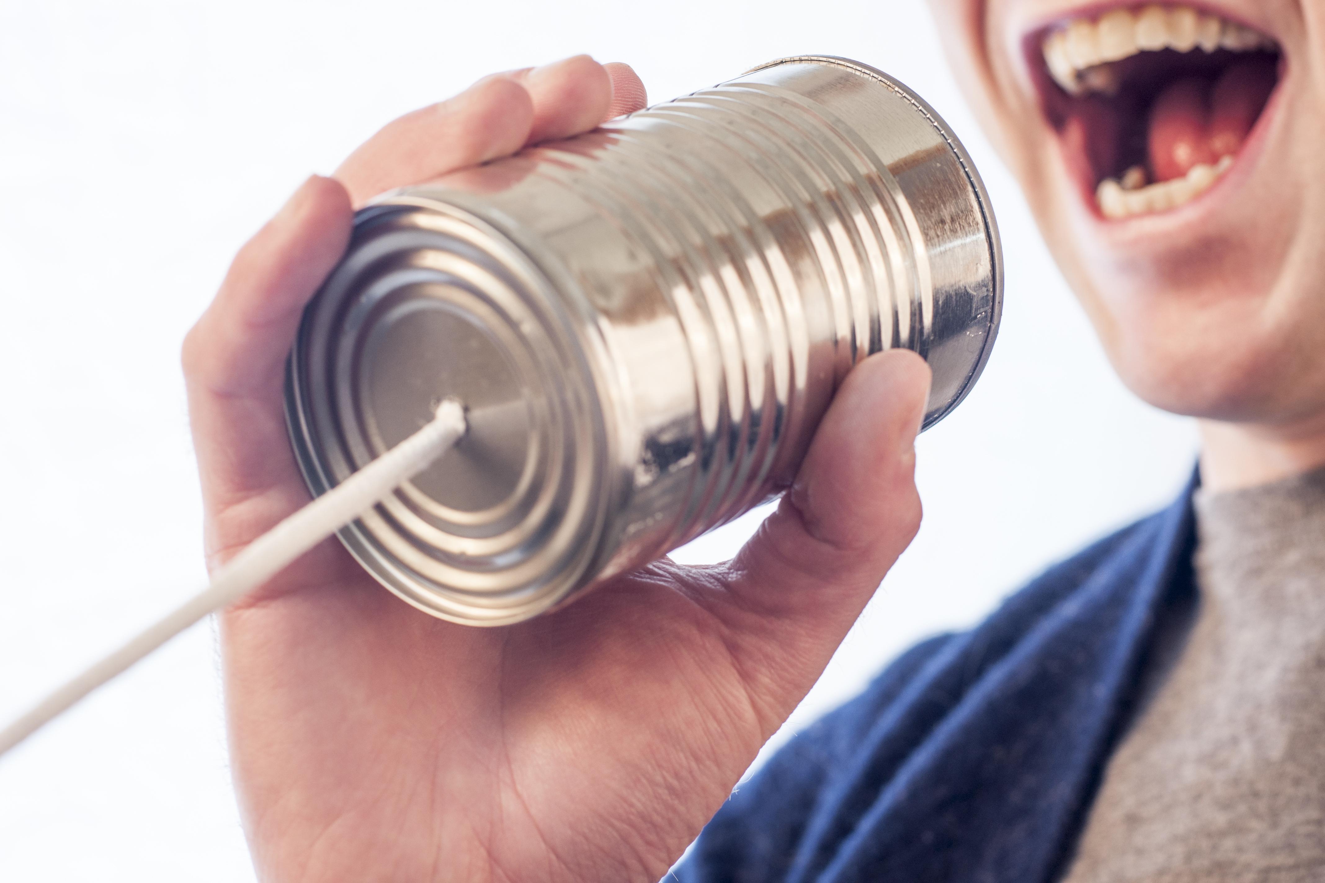 Tin can talk